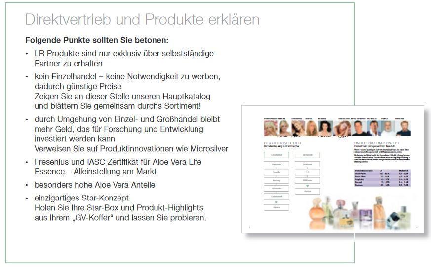 Grafik LR Kunden gewinnen - LR Produkte vorstellen.