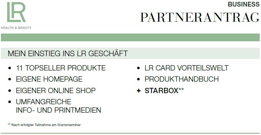 Bild zum Thema LR Partnerantrag online. - Bildquelle: LR Health & Beauty Systems.