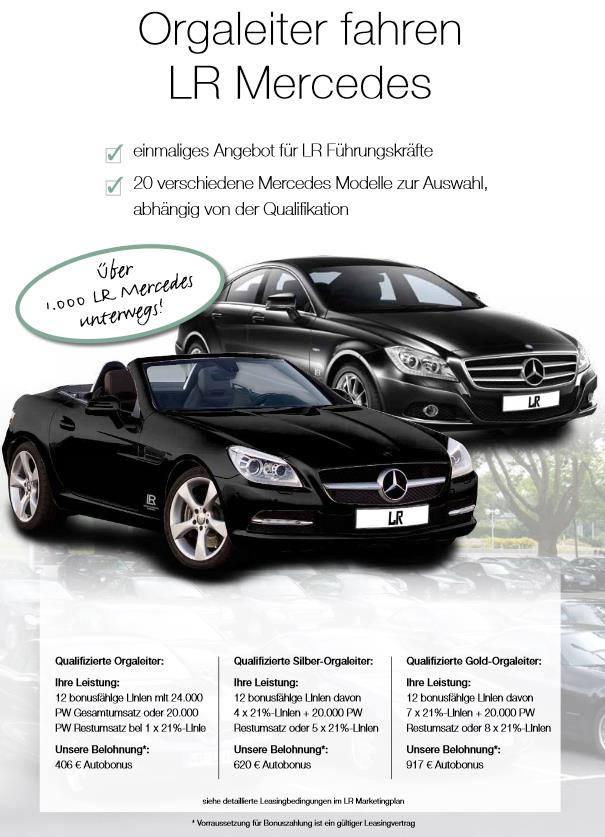 Bild zu LR Auto bekommen Orgaleiter fahren LR Mercedes.