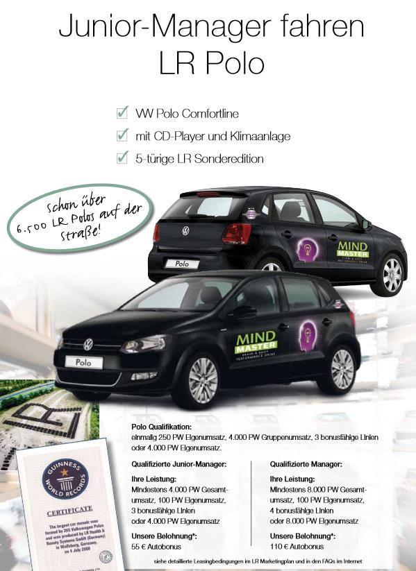 Bild zu LR Autokonzept - Junior Manager fahren LR Polo.
