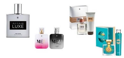 Teaser Bild mit verschiedenen LR Parfums.