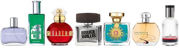 Bild zum Thema Parfum von LR Kosmetik online kaufen auf Rechnung. Eine Auswahl verschiedener LR Parfums.