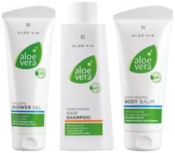 Produktbild Aloe Vera Haar- & Körper-Set. Jetzt Aloe Vera Produkte aus dem LR Katalog günstig kaufen.