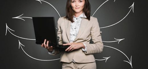 Bild mit Frau am Notebook zum Thema LR World Partner Vorteile und Informationen
